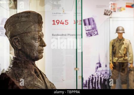 Pilsen, Czech Republic. 03rd June, 2019. The Patton Memorial Pilsen museum was opened after a restoration, on June 3, 2019, in Pilsen, Czech Republic. Credit: Miroslav Chaloupka/CTK Photo/Alamy Live News - Stock Image