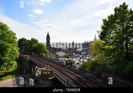 Hafengeburtstag St. Pauli-Landungsbrücken - Stock Image