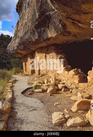 Mesa Verde Cliff Dwellings in Colorado, USA - Stock Image