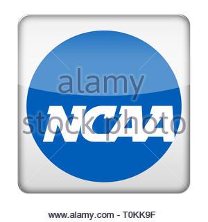 NCAA College Basketball logo symbol - Stock Image