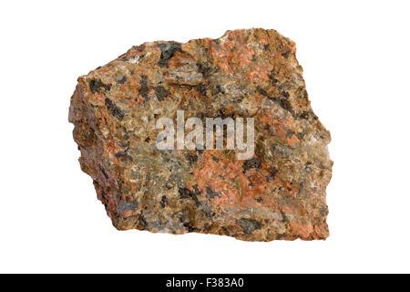 Nepheline syenite (nepheline is gray) - Stock Image