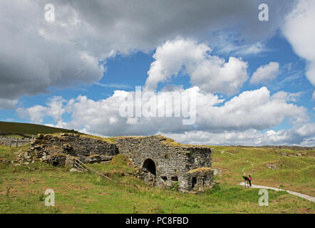Toft Gate Lime Kiln, Greenhow Hill, North Yorkshire, England UK - Stock Image