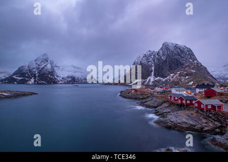 Hamnoy fishing village, Lofoten, Nordland, Norway - Stock Image