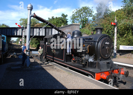 A.J.Hill designed 0-6-2T tank engine at Sheringham Station, North Norfolk Railway. - Stock Image