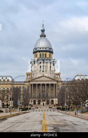 Exterior of the Illinois State Capitol Building.  Springfield, Illinois, USA. - Stock Image