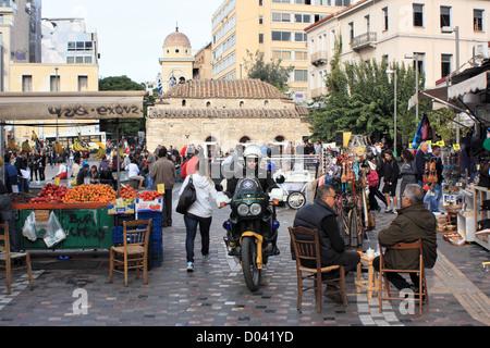 Athens street market - Stock Image
