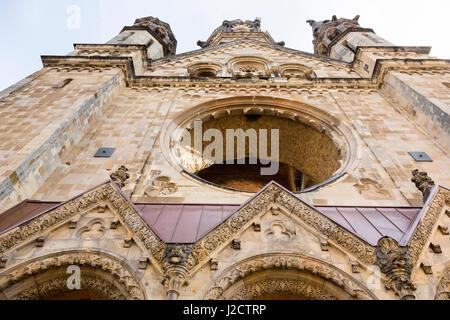 Germany, Berlin. Exterior details of destroyed Kaiser Wilhelm Memorial Church. Credit as: Wendy Kaveney / Jaynes - Stock Image