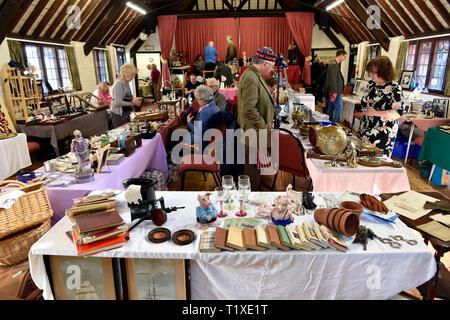 Antique, Vintage and Craft Fair, Chawton, near Alton, Hampshire, UK. Sunday 24 February 2019. - Stock Image
