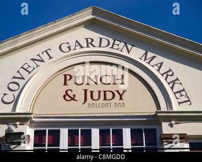 Punch and Judy Balcony Bar Covent Garden Market London - Stock Image
