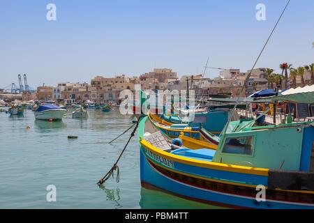 Marsaxlokk fishing village, Malta - Stock Image