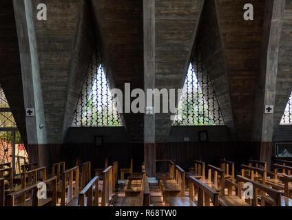 Inside our Lady of Fatima Cathedral, Se Catedral de Nossa Senhora de Fatima, Benguela Province, Benguela, Angola - Stock Image