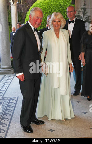 The Prince of Wales and The Duchess of Cornwall arrive for a dinner at Glencairn House in Co Wicklow, on the first day of the Royal couple's visit to Ireland. - Stock Image