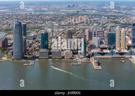 Jersey City Skyline - Stock Image