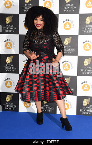 LONDON, UK. March 19, 2019: Gbemisola Ikumelo arriving for the Royal Television Society Awards 2019 at the Grosvenor House Hotel, London. Picture: Steve Vas/Featureflash Credit: Paul Smith/Alamy Live News - Stock Image