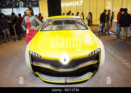 Greater Noida, India. 14th February 2018. Renault showcase their concept car at the Auto Expo 2018 in Greater Noida, - Stock Image