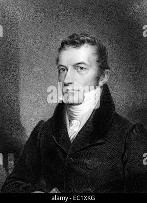 Joel Roberts Poinsett (1779-1851) on engraving from 1834. American physician and diplomat. - Stock Image