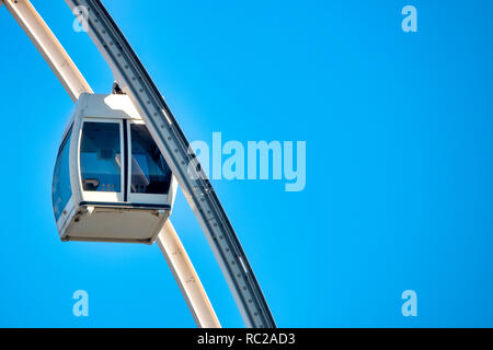 Close up shot of a Ferris Wheel cabin - Stock Image