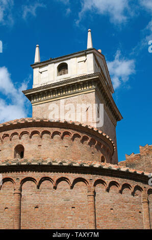 Torre dell'Orologio (Clock Tower) and Rotonda di San Lorenzo  in Mantua, Italy - Stock Image
