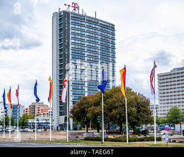 Ernst-Reuter-Platz.Charlottenburg, BerlinThe square is named after Ernst Reuter, mayor of West Berlin from 1948-1953 College of Technology & flags - Stock Image