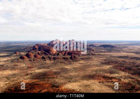 Aerial view  of Kata Tjuṯa, in the Uluru-Kata Tjuṯa National Park, Northern Territory, Australia - Stock Image