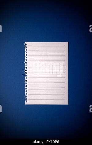 Lined Page - Stock Image