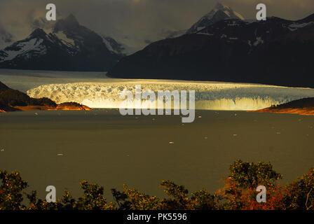 First Light on Perito Moreno Argentina - Stock Image