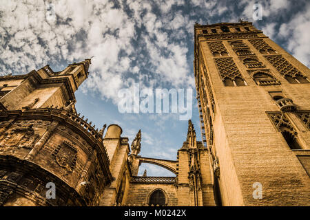 SEVILLE, ANDALUSIA / SPAIN - OCTOBER 13 2017: CATHEDRAL OF SEVILLE - Stock Image