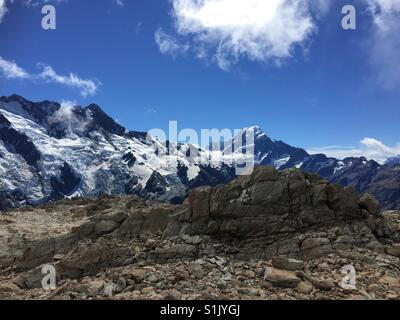 View of Mt Cook from Mueller Hut - Stock Image
