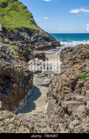 Mewslade Bay on the south Gower Coast near Pitton on a summer day in June - Stock Image