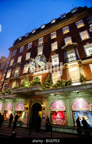 Christmas window display at Fortnum & Mason department store. London. UK 2009. - Stock Image