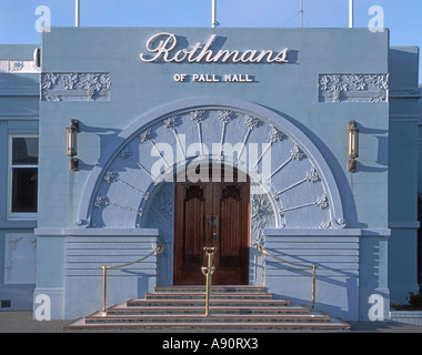 new zealand South island Napier art deco building Rothmans of Pall Mall entrance tabacco factory - Stock Image