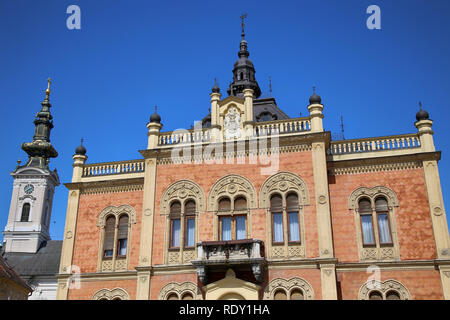 Vladicin Court Palace of Bishop and Church of the Holy Great-Martyr George in Novi Sad, Serbia - Stock Image
