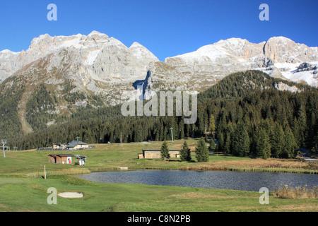 Madonna di Campiglio, Brenta Dolomites, Alps, Italy. - Stock Image