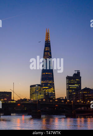 Sunrise over The Shard Building and River Thames, London. - Stock Image