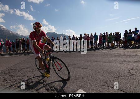 France. 18th July, 2018. Tour de France 2018 cycling stage 11 La Rosiere Rhone Alpes Savoie France Credit: Fabrizio Malisan/Alamy Live News - Stock Image