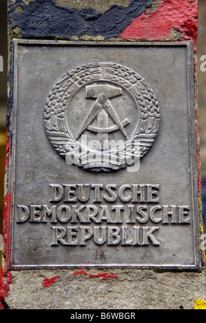 deutsche demokratische republik german democratic graffiti checkpoint charlie berlin germany deutschland real travel - Stock Image