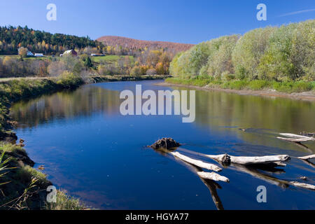 The Connecticut River in Maidstone, Vermont. - Stock Image