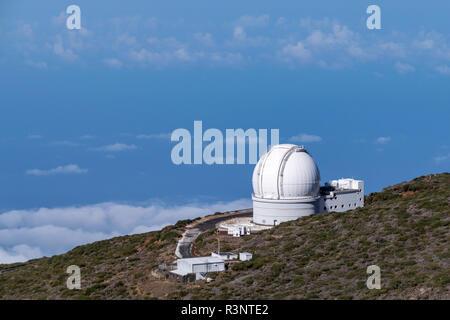 Telescope at the Roque de los Muchachos Observatory, La Palma, Spain - Stock Image
