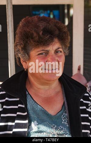 Armenia, Areni, Portrait of Armenian woman - Stock Image