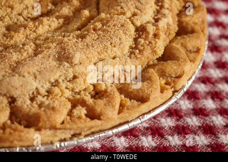 A whole shofly pie, a Pennsylvania Dutch classic. - Stock Image