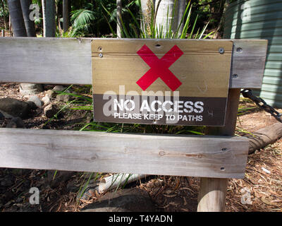 No Access Please Keep To Paths Sign - Stock Image
