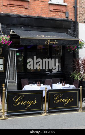 Greigs Restaurant, Bruton Place,Mayfair, London, England, UK - Stock Image