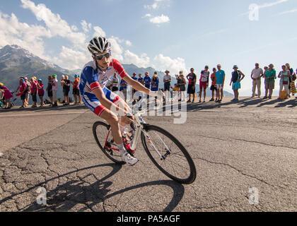 Tour de France 2018 cycling stage 11 La Rosiere Rhone Alpes Savoie France - Stock Image