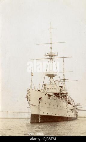 HMS Juno, British Eclipse class cruiser. - Stock Image