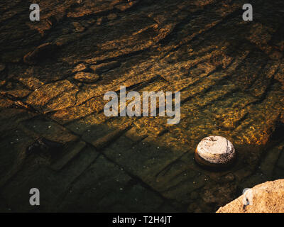 Abstract detail of the old ancient marble port Aliki in Thasos - Stock Image
