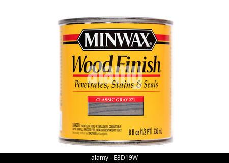 Minwax Classic Gray Wood Finish - Stock Image