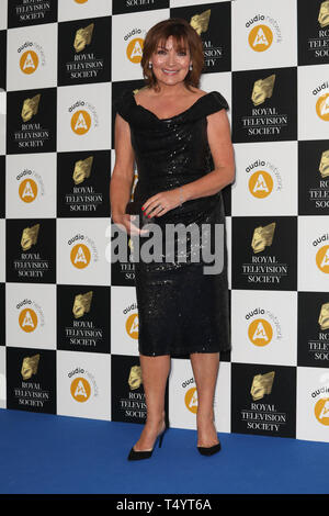 The Royal Television Society Awards (RTS Awards) 2019 held at Grosvenor House Hotel - Arrivals  Featuring: Lorraine Kelly Where: London, United Kingdom When: 19 Mar 2019 Credit: Lia Toby/WENN.com - Stock Image