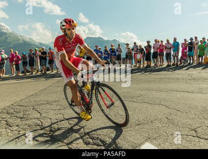 Daniel Navarro Garcia Team Cofidis Tour de France 2018 cycling stage 11 La Rosiere Rhone Alpes Savoie France - Stock Image