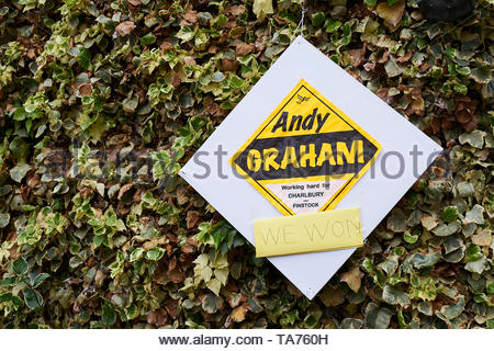 Liberal Democrats Election posters in the Cotswolds in Oxfordshire with Britain approaching Brexit. - Stock Image