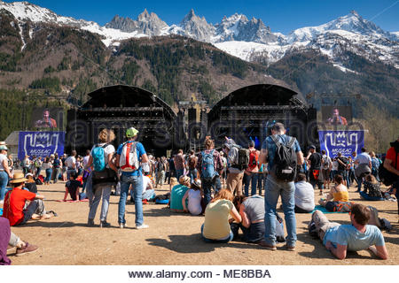 Chamonix, France, 21 April 2018. MUSILAC Mont-Blanc festival in Chamonix (France) - 21 april 2018 Credit: Olivier Parent/Alamy Live News - Stock Image